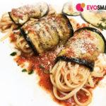 Piatto veloce e sfizioso: involtini di melanzane con spaghetti