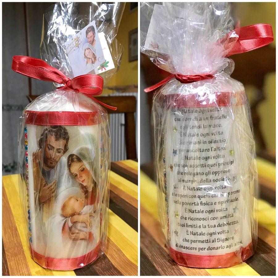 candela personalizzata con stampa