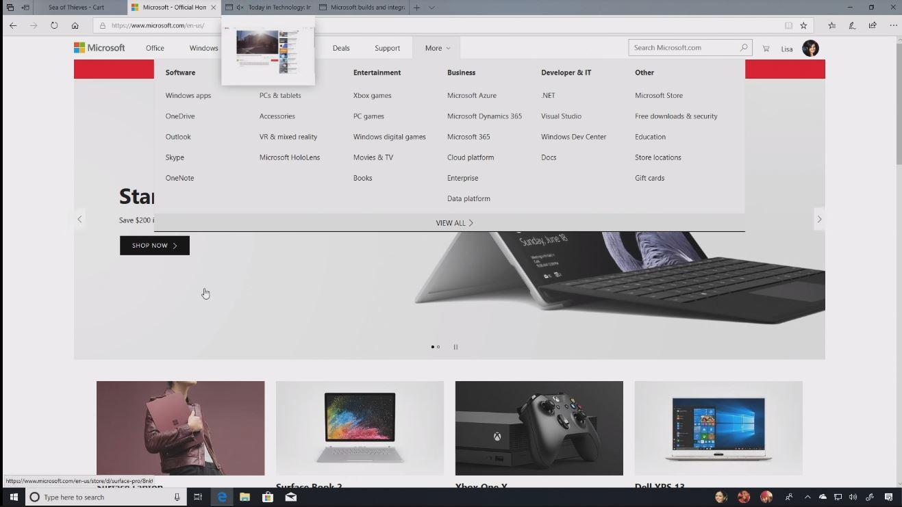 Edge su Windows 10 April 2018 Update | Evosmart.it