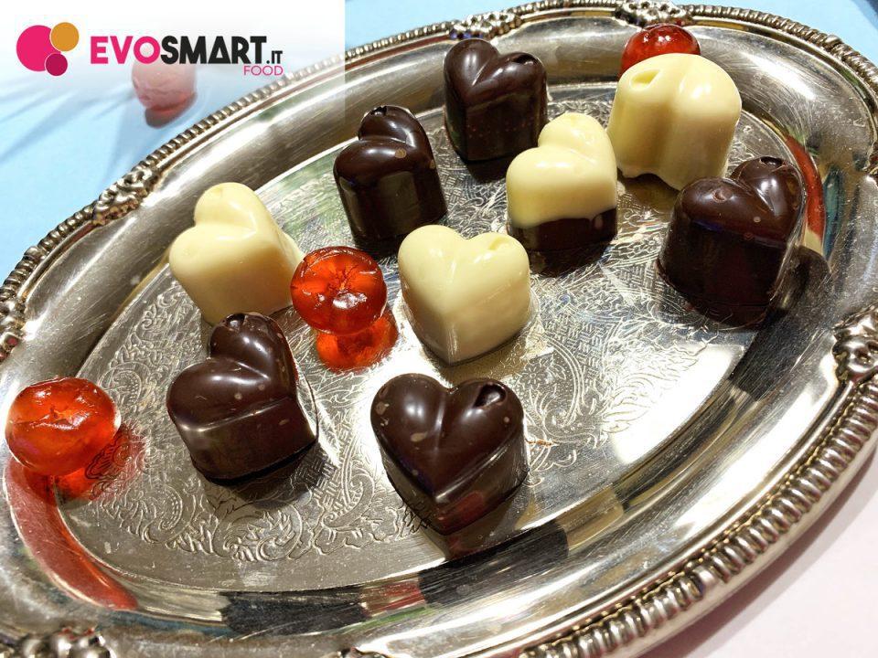 cioccolatini a forma di cuore fatti in casa | Evofood.it
