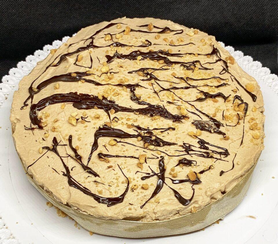 finto cheesecake con crema fondente al rum
