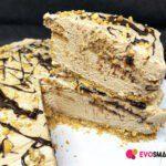 Finto Cheesecake al tiramisù con crema al Rum fondente
