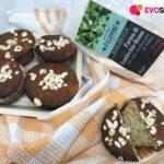 Muffin con farina di lenticchie rosse e fiocchi d'avena
