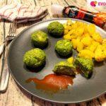 Polpette di broccoli fatte in casa con salsa spray piccante Turci