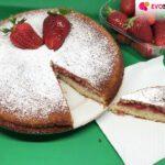 Torta cremosa limone e fragole : senza glutine e lattosio