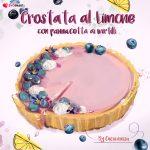 Le vostre ricette disegnate da Daria Rosso: ecco la crostata con panna cotta ai mirtilli di Mariagrazia